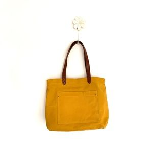 TIME AND TRU Mustard Canvas Tote Bag
